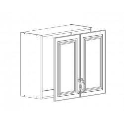 Шкаф верхний с сушкой 2 двери 600/720/320 Болонья бежевая