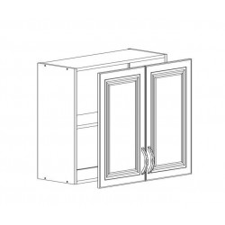 Шкаф верхний с сушкой 2 двери 800/720/300 Болонья бежевая