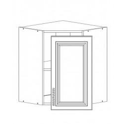 Шкаф верхний угловой 595/720/595 Болонья бежевая