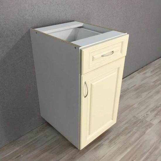 Купить Тумба нижняя 1 ящик+1 дверь (40/82/47) Болонья бежевая на Mebli.Sale Недорого.
