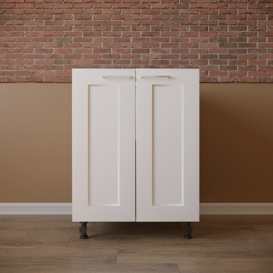 Купить Тумба нижняя 2 двери (60/82/47) Женева белая на Mebli.Sale Недорого.