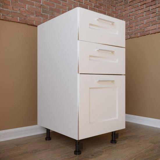 Купить Тумба нижняя 2 ящика + 1 ящик (40/82/47) Женева белая на Mebli.Sale Недорого.