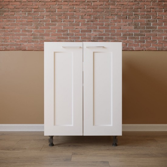 Купить Тумба нижняя под мойку 2 двери (60/82/47) Женева белая на Mebli.Sale Недорого.