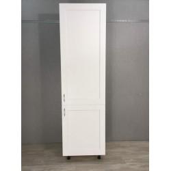 Шкаф 1дверь + 1 дверь (60/213/56) Женева белая