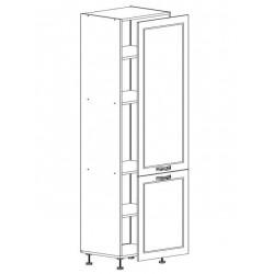 Шкаф 1дверь + 1 дверь 600/2130/590 Женева белая