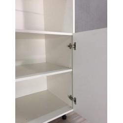 Шкаф под духовку 2 двери 600/2130/560 Женева белая