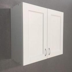 Шкаф верхний 2 двери (60/72/30) Женева Белая