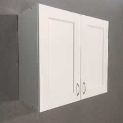 Шкаф верхний 2 двери 800/720/320 Женева Белая