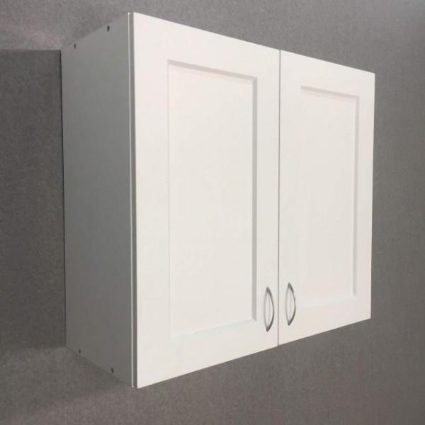 Шкаф верхний 2 двери (80/72/30) Женева Белая