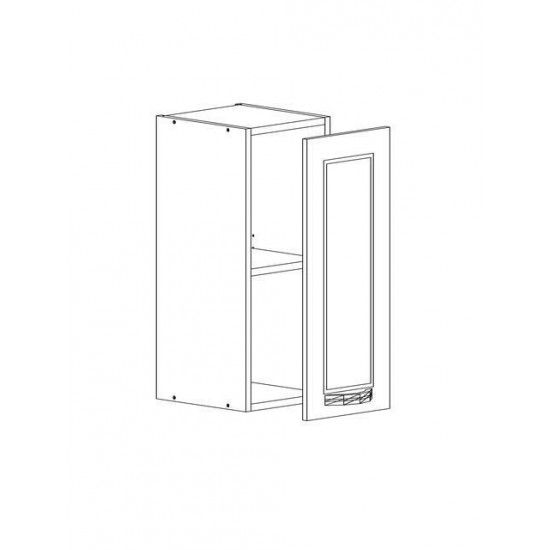 Купить Шкаф верхний (30/72/30) Женева, белая на Mebli.Sale Недорого.
