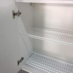 Шкаф верхний с сушкой 2 двери 600/720/300 Женева Белая