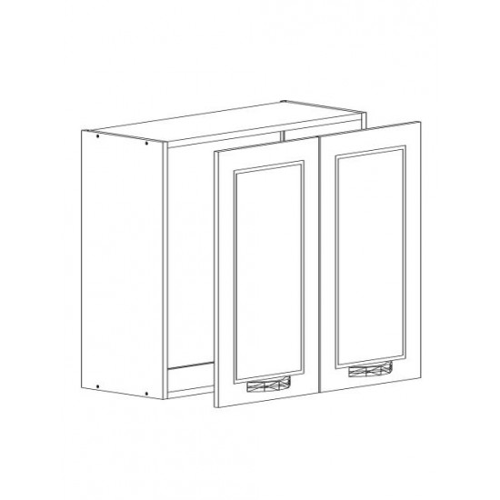 Купить Шкаф верхний с сушкой 2 двери (60/72/30) Женева Белая на Mebli.Sale Недорого.