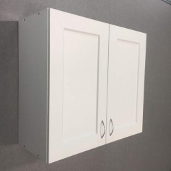 Шкаф верхний с сушкой 2 двери (80/72/30) Женева Белая
