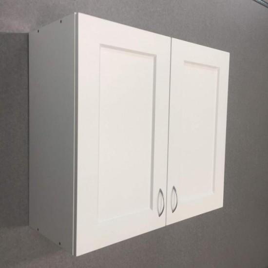 Купить Шкаф верхний с сушкой 2 двери (80/72/30) Женева Белая на Mebli.Sale Недорого.