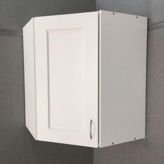 Шкаф верхний угловой 600/720/600 Женева Белая