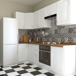 Кухня угловая Женева, белая 1x2.5 м (DiPortes ™️)