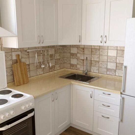 Купить Кухня угловая Женева, белая 1.4x1.4 м  (DiPortes ™️) на Mebli.Sale Недорого.