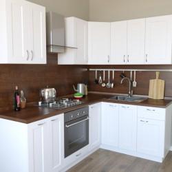 Кухня Женева угловая, бежевая 2,2x1,6 м (DiPortes ™️)