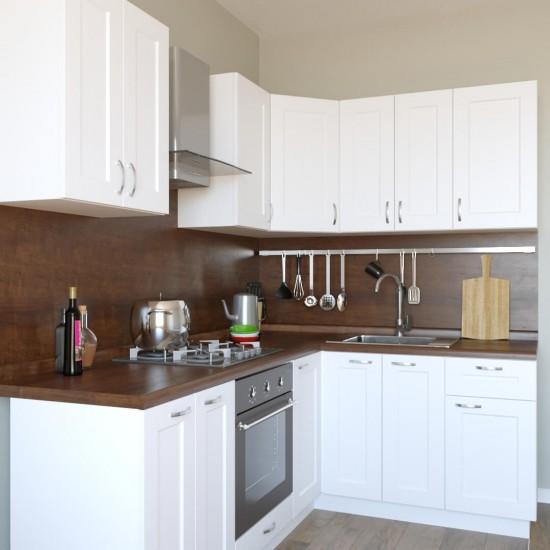 Купить Кухня Женева угловая, бежевая 2,2x1,6 м (DiPortes ™️) на Mebli.Sale Недорого.