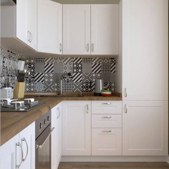 Купить Кухня угловая Женева, белая 2,6x2 м (DiPortes ™️) на Mebli.Sale Недорого.