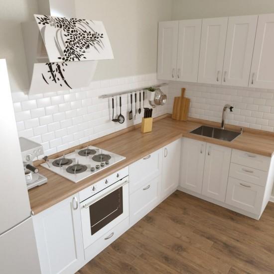 Купить Кухня угловая Женева, белая 2.6x1.6 м  (DiPortes ™️) на Mebli.Sale Недорого.