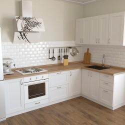 Кухня угловая Женева, белая 2.6x1.6 м  (DiPortes ™️)