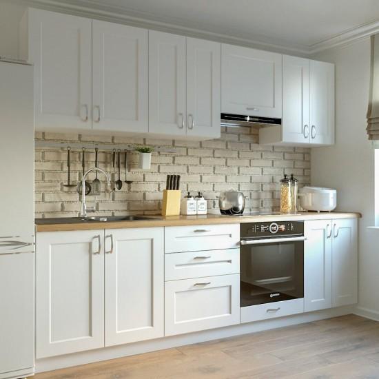 Купить Кухня Женева, белая 2,6 м  (DiPortes ™️) на Mebli.Sale Недорого.