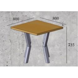 Стол обеденный «СВЕН» квадратный (4 ножки)