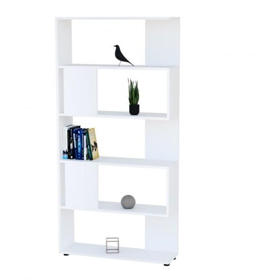 Купить Стеллаж книжный Аt-72, белая (80/162/23) на Mebli.Sale Недорого.