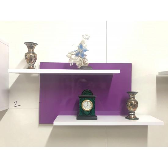 Купить Настенная полочка ex-006, Виолетта глянец (80/33/14) на Mebli.Sale Недорого.