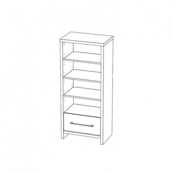 """Купить Книжный шкаф """"Марсель 5"""", Белый  (54/ 128/ 35) на Mebli.Sale Недорого."""