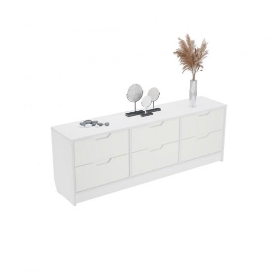 """Купить Комод """"Меликано"""", Ат-450, Белый (149/52/33) на Mebli.Sale Недорого."""