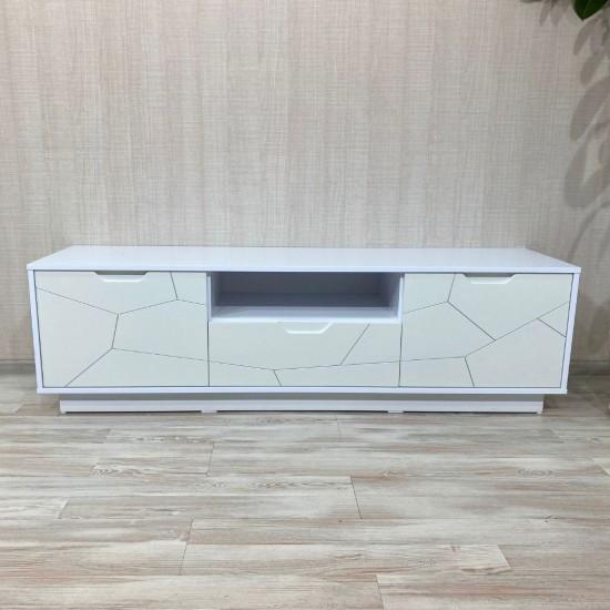"Купить Тумба  ""Санторини TV-100"", Белый  (160/ 47/ 42) на Mebli.Sale Недорого."