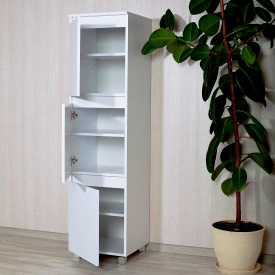 """Купить Пенал """"Капри"""", кт-1604.1, белый 3 двери (40/153/40) на Mebli.Sale Недорого."""