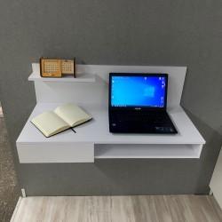 """Компьютерный стол навесной """"Капри"""", кт-313-1, белый (100/45/44)"""