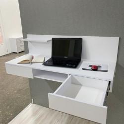 """Компьютерный стол навесной """"Капри"""", кт-313-2, белый (119/45/45)"""