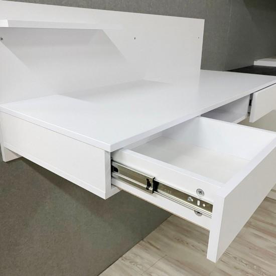"""Купить Компьютерный стол навесной """"Капри"""", кт-313-2, белый (119/45/45) на Mebli.Sale Недорого."""