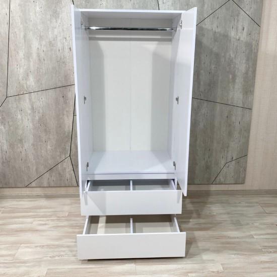 """Купить Шкаф """"Капри"""", К-844, белый  (80/183/56) на Mebli.Sale Недорого."""
