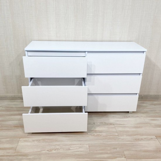 Купить Комод DiPortes  К-307 без ручек, Белый (140/76/40) на Mebli.Sale Недорого.