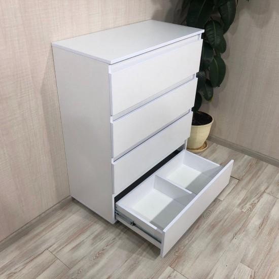 Купить Комод DiPortes Kt-104 без ручек, Белый (80/104/40) на Mebli.Sale Недорого.