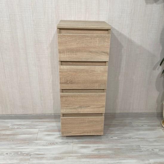 Купить Комод DiPortes Kt-105 без ручек, Дуб Соном (40/104/40) на Mebli.Sale Недорого.