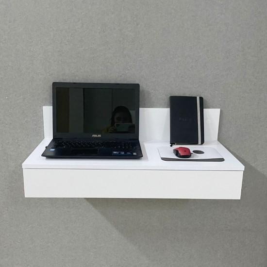Купить Компьютерный стол навесной Вт-350, белый (80/27/40) на Mebli.Sale Недорого.