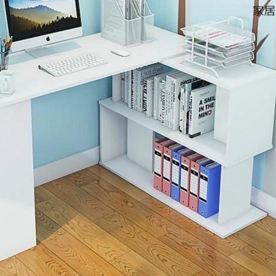 Купить Стол DiPortes письменный угловой Bt-312, Белый  (120/74/50) на Mebli.Sale Недорого.