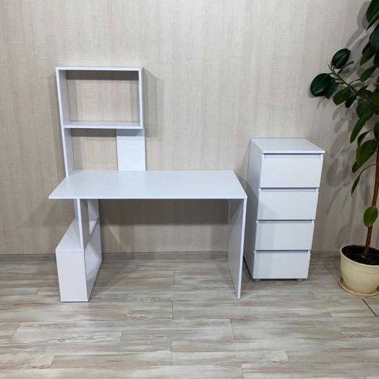Купить Письменный стол Вт-317, белый (120/74/58) на Mebli.Sale Недорого.