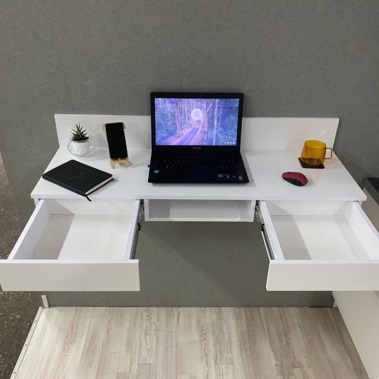 Купить Компьютерный стол навесной Вт-352, белый (120/27/40) на Mebli.Sale Недорого.