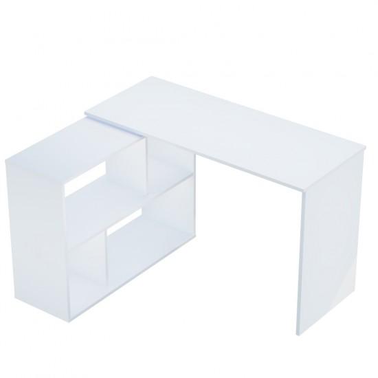 Купить Стол письменный поворотный DiPortes Bt-310, белый (110/76,2/50) на Mebli.Sale Недорого.