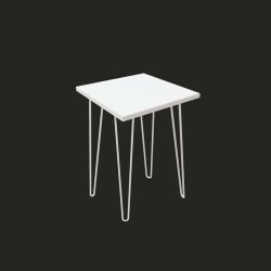 """Стол """"Спектр"""" СЖ-15, Белый матовый, квадрат (40/73/40), МДФ, белые ножки"""