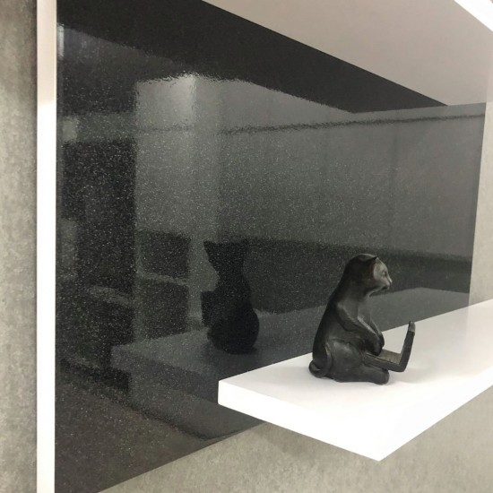 Купить Настенная полочка ex-006, Черный глянец (80/33/14) на Mebli.Sale Недорого.