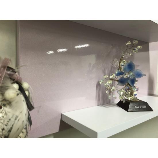 Купить Настенная полочка ex-006, Розовый металлик  (80/33/14) на Mebli.Sale Недорого.