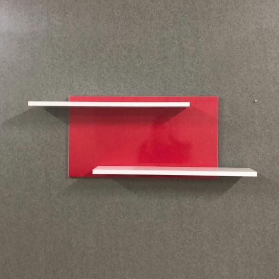Купить Настенная полочка ex-006, Красный глянец (80/33/14) на Mebli.Sale Недорого.